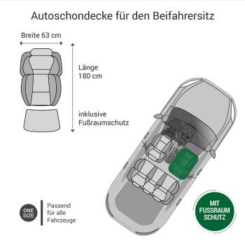 Autoschondecke Beifahrersitz Grau