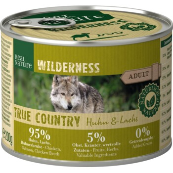 WILDERNESS Adult 6x200 g True Country Pollo e salmone