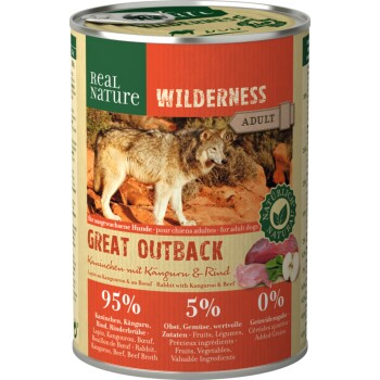 WILDERNESS Adult 6x400 g Great Outback Coniglio con Canguro e Manzo