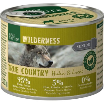 WILDERNESS Senior Poulet et saumon 6 x 200 g
