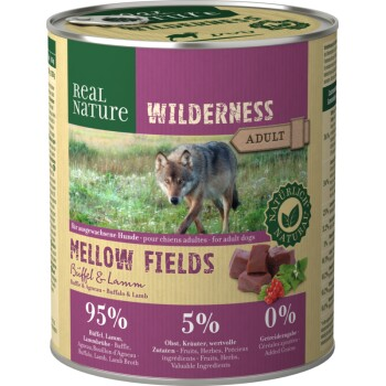 WILDERNESS Adult 6x800g Mellow Fields Büffel & Lamm