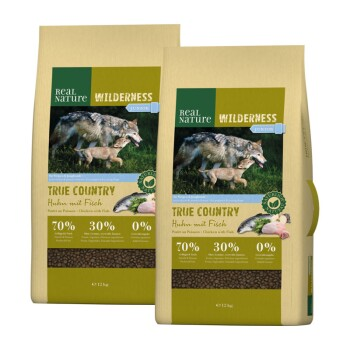 WILDERNESS Junior True Country poulet au poisson 2 x 12 kg
