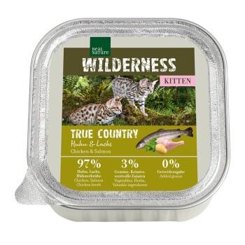 WILDERNESS Kitten 16x100g True Country Pollo e salmone