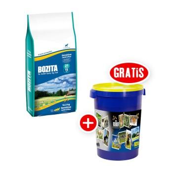 Bozita Sensitive Lamm & Reis 21/11 + Bozita Futtertonne