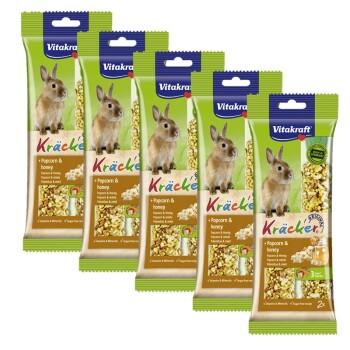 Kräcker dla królików miniaturowych 5 x 2szt. Popcorn i miód