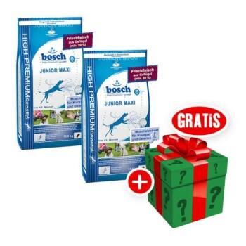 bosch Junior Maxi Sparpaket 2x15kg + gratis Überraschungsgeschenk