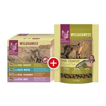 WILDERNESS Adult True Country Mischfütterungs-Set True Country 300g + 4x100g Multipack