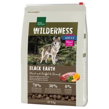 WILDERNESS Maxi Adult Black Earth Rind mit Strauß & Büffel 4kg