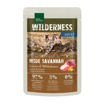 Wilderness Adult 12x85g Wide Savannah z jagnięciną i dzikiem