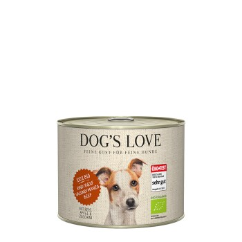 Dog`s Love BIO 6x200g Rind mit Reis, Apfel & Zucchini