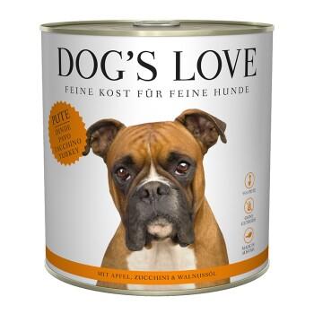 Dog's Love Adult Classic 6x800g Tacchino con mela e zucchine