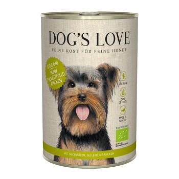 Dogs`s Love BIO 6 x 400 g Kip met boekweit en selderij