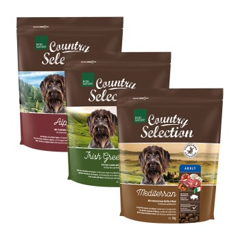 Country Selection Adult Probierpaket 3x1kg Paket 1: Truthahn, Büffel, Lamm