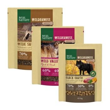 Pack de dégustation WILDERNESS Adulte 3x1kg Pack 4: Boeuf, sanglier, cheval