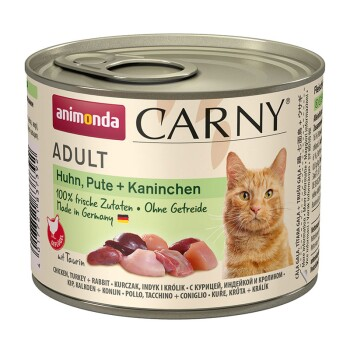 CARNY Adult 6x200g Huhn, Pute & Kaninchen