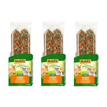 Grain Free Sticks 3x100g Carote