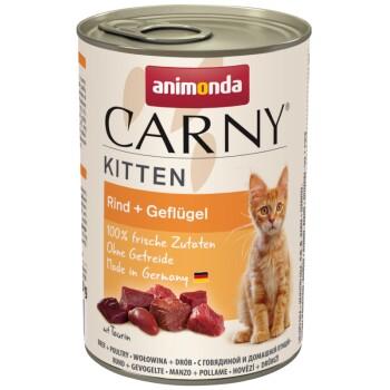CARNY Kitten 6x400g Rind & Geflügel