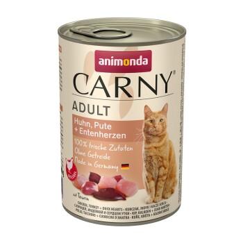CARNY Adult 6x400g Pollo, tacchino e cuore d'anatra