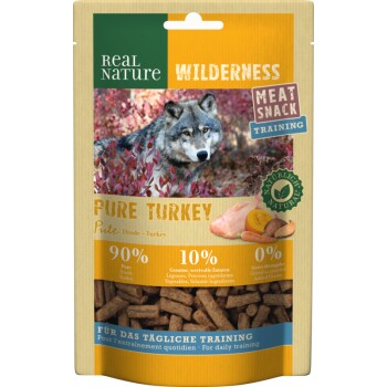 WILDERNESS Meat Snack Training 150 g Pure Turkey (dinde à la courge, pommes de terre douces et carottes)