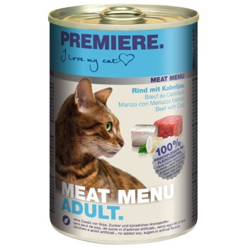 Meat Menu Adult 6x400g Rind mit Kabeljau & Petersilienwurzel