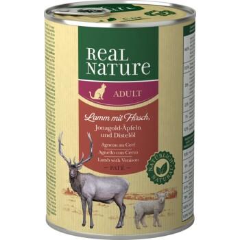 Adult 6x400g Jagnięcina z jeleniem, jabłkami Jonagold i olejem z krokosza barwierskiego