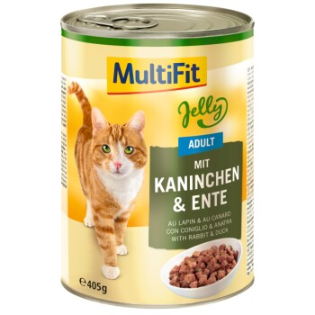 Adult Jelly 6x400g Kaninchen & Ente