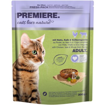 cats love nature Adult Huhn, Kalb & Vollkorngerste 300g