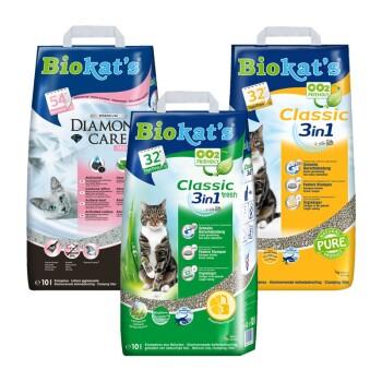 Pack découverte Biokat's 3sortes de litière