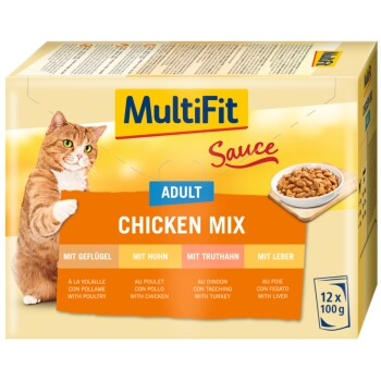 Adult Sauce Chicken Mix Multipack 12 x 100 g