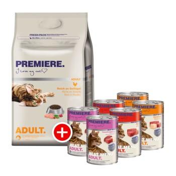 Adult Mischfütterung Set 2tlg. Geflügel 4kg + 6x400g Meat Menu Adult Mixpaket