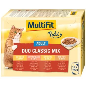 Adult Paté Duo Classic Mix Multipack 12x100g