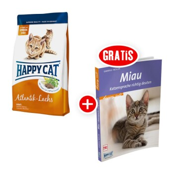 Happy Cat Supreme Atlantik-Lachs 4kg + gratis Katzenbuch