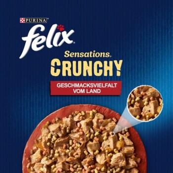 Sensations Crunchy 10x85g + 40g Knusperstückchen Geschmacksvielfalt vom Land