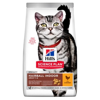 Zalety karmy Feline Science Plan Adult Hairball Indoor 3 kg