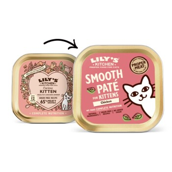 LILY'S KITCHEN Kitten 19x85g Feine Pastete fürs Kätzchen mit Huhn