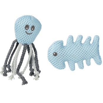 Dental Speelgoed octopus+vis kattenkruid