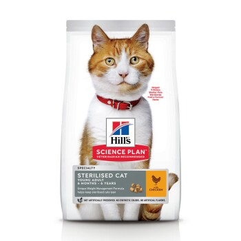 Hill's Feline Science Plan Young Adult Sterilised Au poulet 10 kg