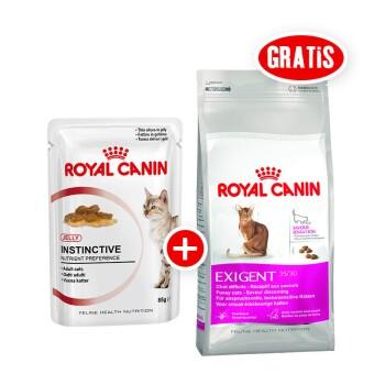 Instinctive in Gelee 12x85g + gratis Royal Canin Exigent 35/30 Savour Sensation 400g