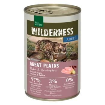 WILDERNESS Adult 6x400g Great Plains Huhn & Kaninchen