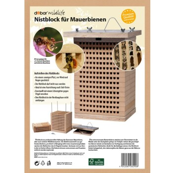 Wildbienenhaus m. Nistbretter