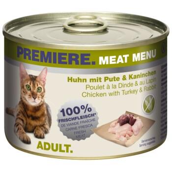 Meat Menu Adult 6x200g Huhn mit Pute & Kaninchen