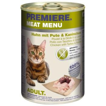 Meat Menu Adult 6x400g Huhn mit Pute & Kaninchen