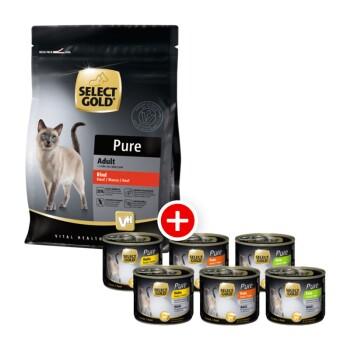 PURE Adult Mischfütterung-Set 2tlg. Pure Adult Rind 400g + 6x200g Mixpaket