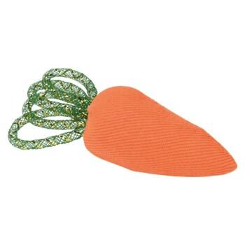 Spielzeug Karotte mit grünen Blättern