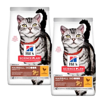 Feline Science Plan Adult Hairball Indoor 2x10kg