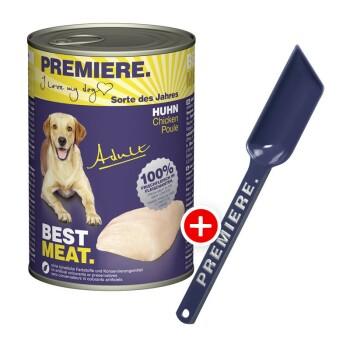 Premiere BEST MEAT Adult 12x400g + gratis Futterlöffel Huhn
