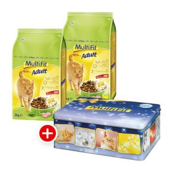 Katze Adult 2x2kg + gratis Weihnachtsdose Forelle