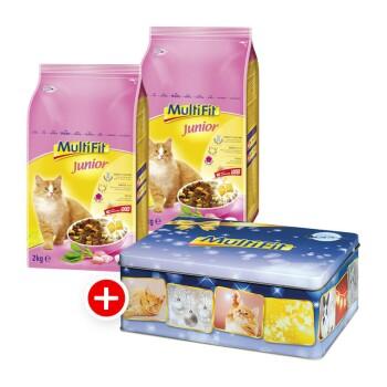 Katze Junior 2x2kg + gratis Weihnachtsdose