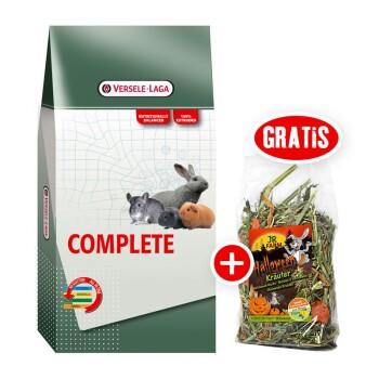 Versele-Laga Cuni Complete für Zwergkaninchen 8kg + gratis JR Halloween Snack 100g