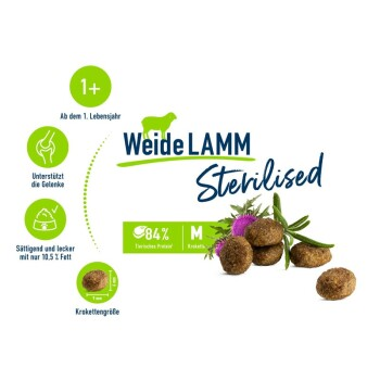 Sterilised Adult Weide-Lamm 1,3 kg